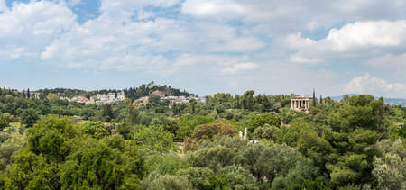 Panroamic view of Temple of Hephaestus in Greek Agora