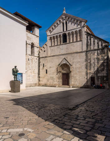 Zadar, Croatia - 23 May 2019: St Chrysogonus church in the ancient old town of Zadar in Croatia 報道画像