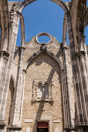 Convent of Carmo in Lisbon damaged in the major earthquake in 1755 Stock Photo