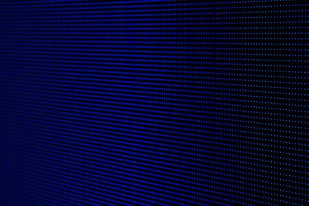 Blue Dots RGB LED Pixel Pitch - Color Mixing LEDS. Perspective view SMD Technology Screen Display Stock Photo