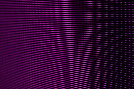 Pink Purple Dots RGB LED Pixel Pitch - Color Mixing LEDS. Perspective view SMD Technology Screen Display Stock Photo