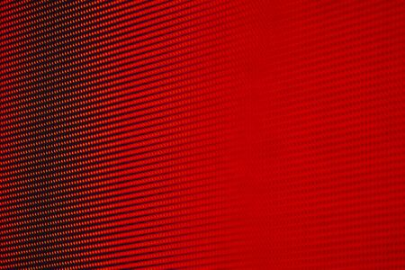 Blurry Red RGB LED Pixel Pitch - Color Mixing LEDS. Perspective view SMD Technology Screen Display Stock Photo