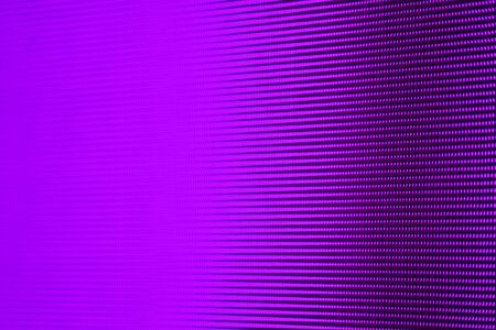 Blurry Purple Light RGB LED Pixel Pitch - Color Mixing LEDS. Perspective view SMD Technology Screen Display