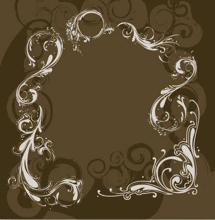 andamp: light andamp,amp, dark brown floral background decoration (vector format) Illustration