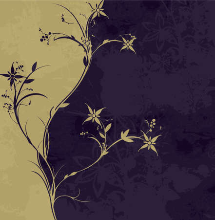 light & dark background with modern flower (vector eps format) Stock Vector - 922183