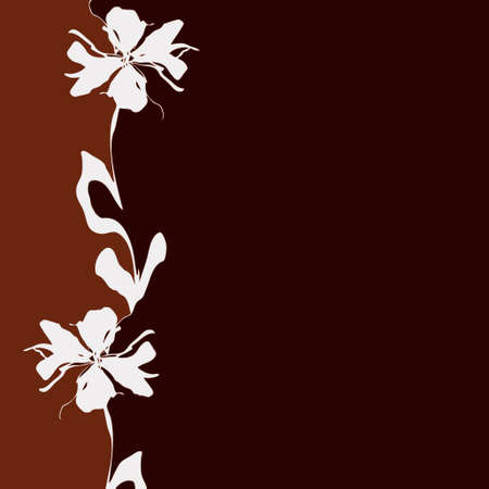 brown: light & dark brown background with flower (vector eps format)