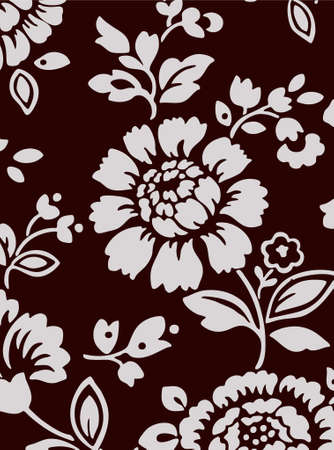 dark brown background with flower bouquet (vector eps format) Vector
