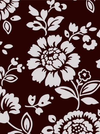dark brown background with flower bouquet (vector eps format) Vector