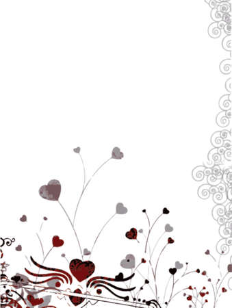 floral background with little hearts (vector eps format) Stock Vector - 937263
