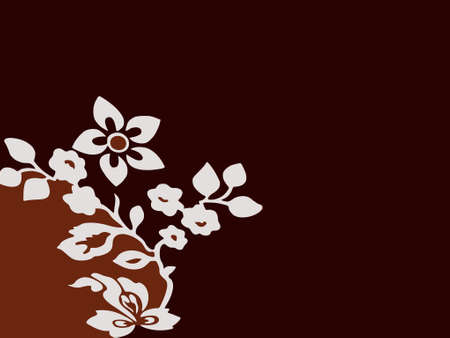 light & dark brown background with flower (vector eps format) Stock Vector - 951678
