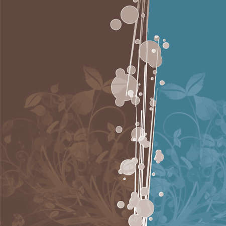 bubbles with brown leaves background (vector format) Vector