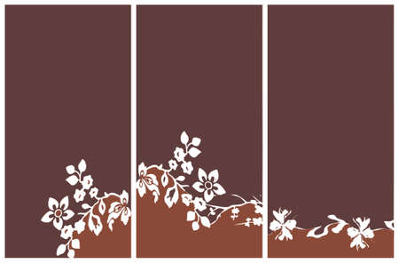 light andamp,amp, dark brown background with flower bouquet (vector format) Stock Vector - 1242815
