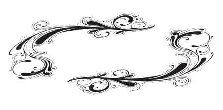 retro floral gift card border (vector format) Vector