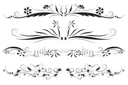 antique floral decoration set (vector eps format)
