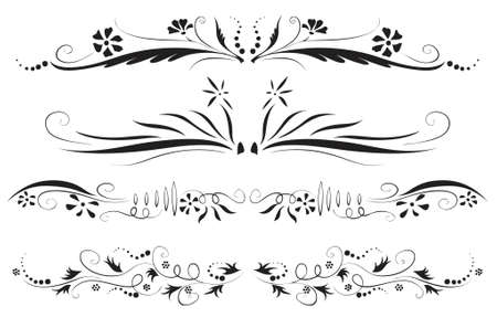 passion flower: antique floral decoration set (vector eps format)