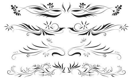 antique floral decoration set (vector eps format)