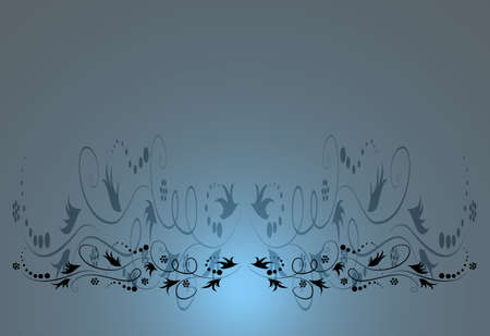 blue antique floral shaded background