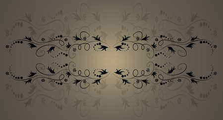 antique floral shaded background Stock Photo