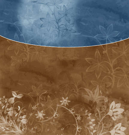 bluebrown floral background (vector format)