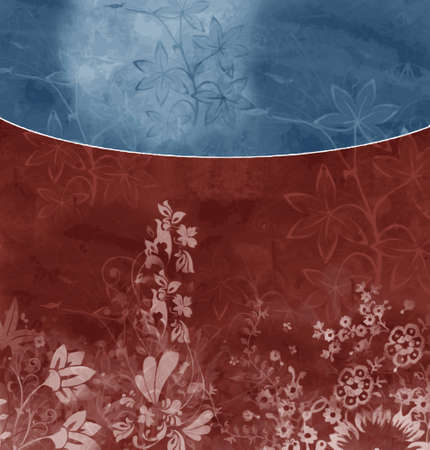the format: bluered floral background (vector format)