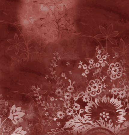 dark red floral background (vector format)