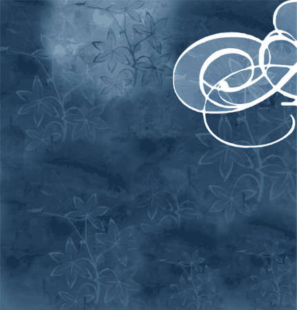 blue floral background (vector format)