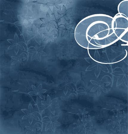 format: blue floral background (vector format)