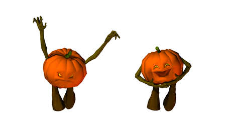 isolated halloween pumpkins illustration illustration