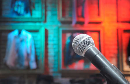 microphone on the background of the scene Stock Photo - 8338054