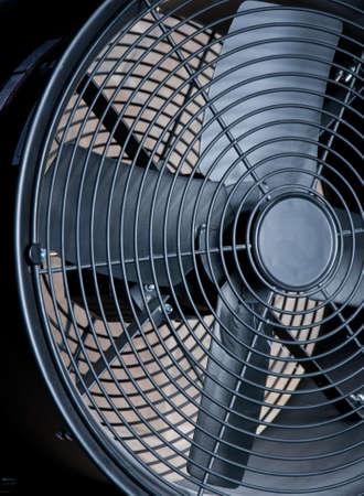 big black metallic fan close-up as a background photo