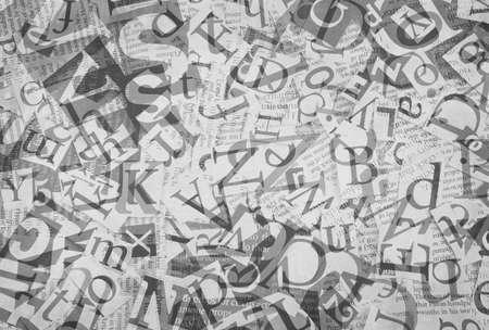 feltételek: letters cut from newspaper, background