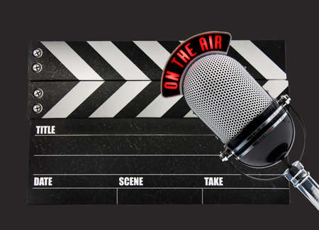 Film Slate und Mikrofon Standard-Bild - 10022441