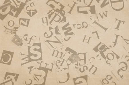old paper with letters, background Stock Photo - 10022454