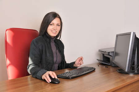 woman in the office workplace Stock Photo - 16128036