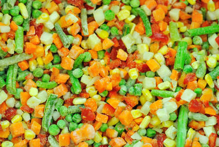 Frozen vegetables can be used as background photo