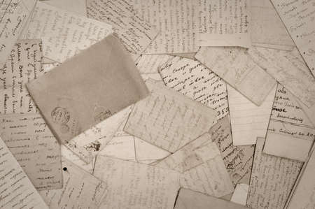 imperfection: old paper, old letters, background