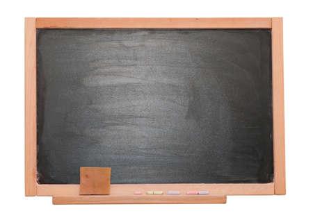 blackboard isolated on white photo