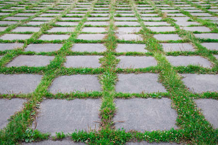 background, concrete slabs and grass photo