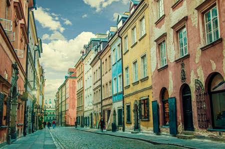 Alten Stein Straßen von Warschau Standard-Bild - 21764813