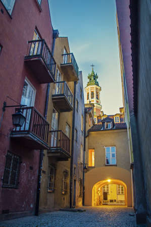 Street in the old town. Poland, Warsaw. photo