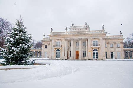lazienki: Lazienki Park in winter  Poland, Warsaw
