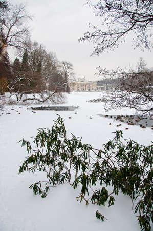 Lazienki Park in winter. Poland, Warsaw. photo