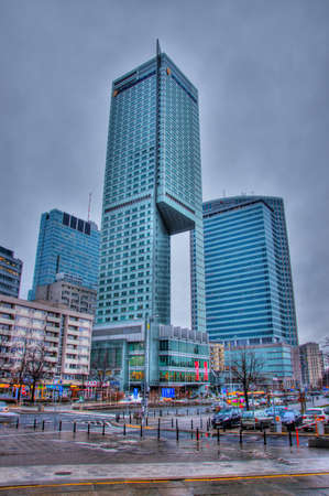 WARSAW, POLAND - FEBRUARY 1: Skyscraper hotel in central Warsaw. Winter view on FEBRUARY 1 2013. Stock Photo - 21755750