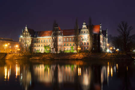 Museum on the banks of the River Oder in Wroclaw