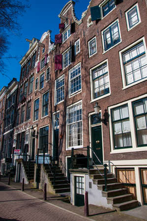 brick houses in Amsterdam