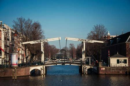 drawbridge: drawbridge in Amsterdam in the afternoon