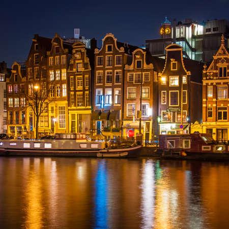 house gable: Amsterdam at night