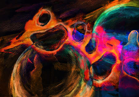 cuadros abstractos: pintura abstracta en tonos oscuros