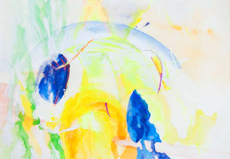 daubs: abstract picture painted by paints Stock Photo