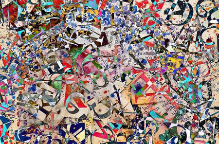 Abstrakten Hintergrund mit Buchstaben Standard-Bild - 22651878